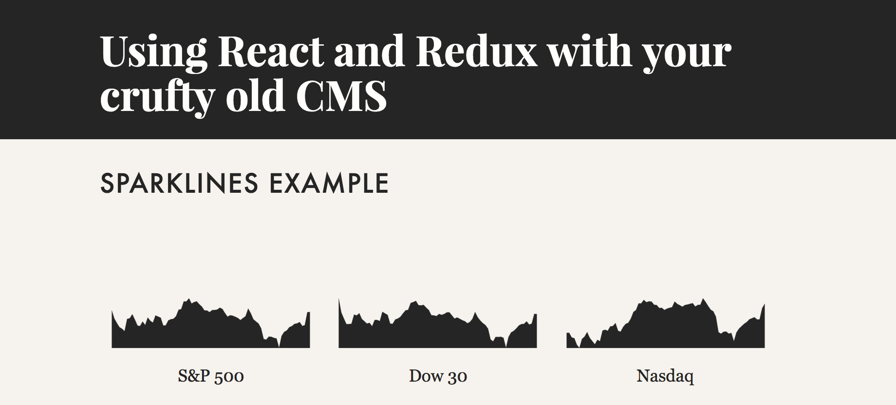 How to use React (and Redux) with your crufty old CMS